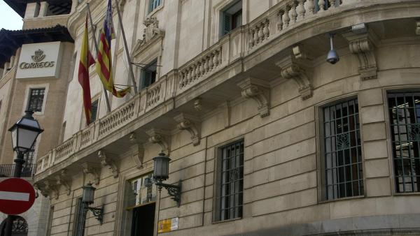 Fachada de la Delegación del Gobierno en Baleares.