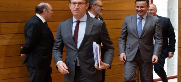 Feijóo Na Sesión De Control Do Parlamento De Galicia
