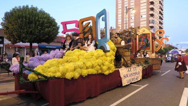 Desfile de carrozas en Logroño