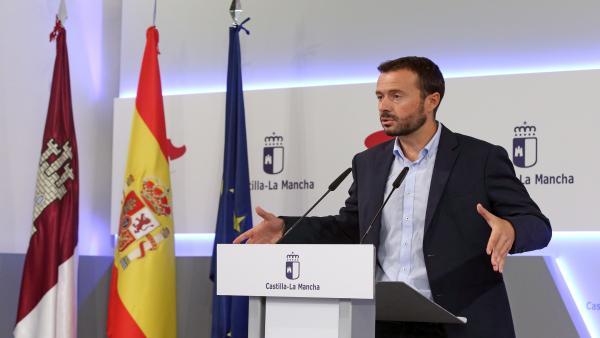 El consejero de Desarrollo Rural, José Luis Escudero, en rueda de prensa