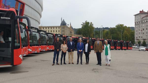 Presentación de los nuevos autobuses híbridos de Bilbobus