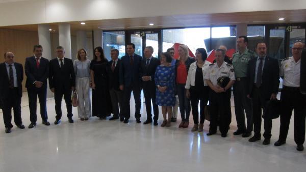 Representantes de la Comisión Provincial Contra la Violencia de Género.