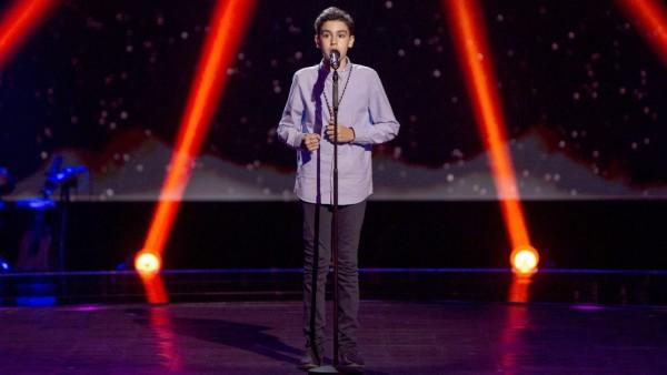 Hugo triunfa en 'La Voz Kids' cantando una saeta