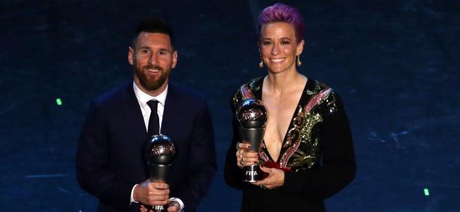 Messi y Rapinoe, los mejores