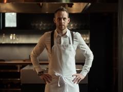 Retrato de Bjorn Frantzen en su restaurante