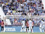 Un lance del partido entre el CD Leganés y el Athletic Club.