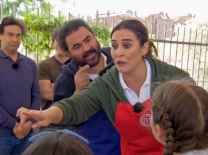 El Sevilla y Vicky Martín Berrocal, en MasterChef Celebrity 4'.