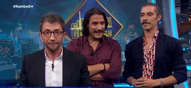 Óscar Jaenada y Sergio Peris-Mencheta, en 'El hormiguero'.
