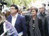 Joan Josep Nuet y Anna Simó, exmiembros de la Mesa del Parlament, acuden al Tribunal Supremo.