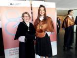 La consellera d'Universitats, Carolina Pascual, al costat de la rectora de la UJI, Eva Alcón