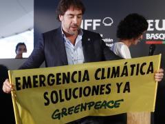 Javier Bardem se suma a la manifestación contra el cambio climático
