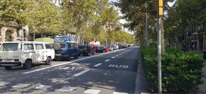 Colapsan la Gran Via de Barcelona