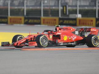 Charles Leclerc logra la pole del GP de Rusia