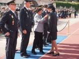 La delegada del Gobierno, Mercedes Martín, en la festividad policial en la Escuela Nacional de la Poilicía.