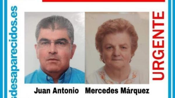 Cartel de búsqueda de los dos desaparecidos en Carmona