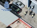Agentes de la Policía Nacional en la operación contra el narcotráfico.