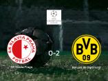 El Borussia de Dortmund gana 0-2 en el feudo del Slavia Praha
