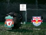 El Liverpool vence 4-3 al Salzburg y se lleva los tres puntos