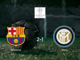 El Barcelona derrota 2-1 al Inter de Milán y se lleva los tres puntos