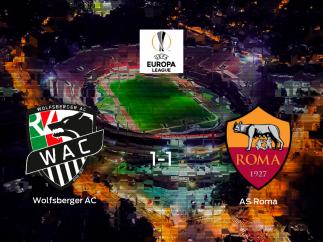 El Wolfsberger AC y la Roma se reparten los puntos tras su empate a uno