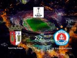 El Slovan Bratislava logra un empate a dos ante el Sporting de Braga