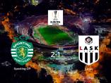 El Sporting CP consigue la victoria en casa frente al LASK (2-1)