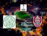 Victoria del Celtic frente al CFR Cluj (2-0)
