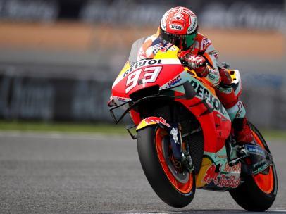 Marc Márquez, en los entrenamientos del GP de Tailandia