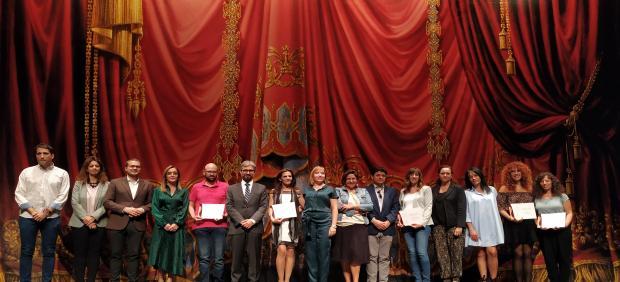 Acto de reconocimiento a la Mujer Rural y en la posterior entrega de premios del I Certamen Provincial de Poesía en Albacete