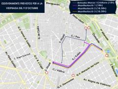 Manifestaciones previstas en València con motivo del 9 d'Octubre