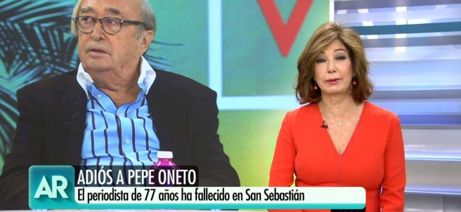 Ana Rosa Quintana recuerda a Pepe Oneto