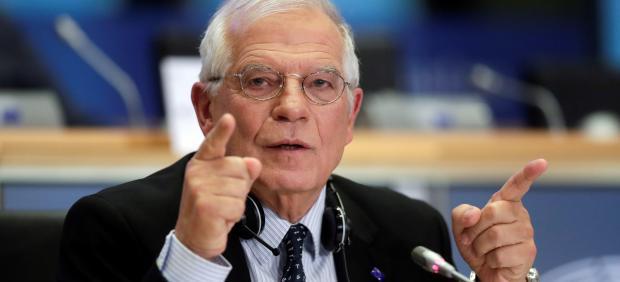 Josep Borrell en la audiencia del Parlamento Europeo.
