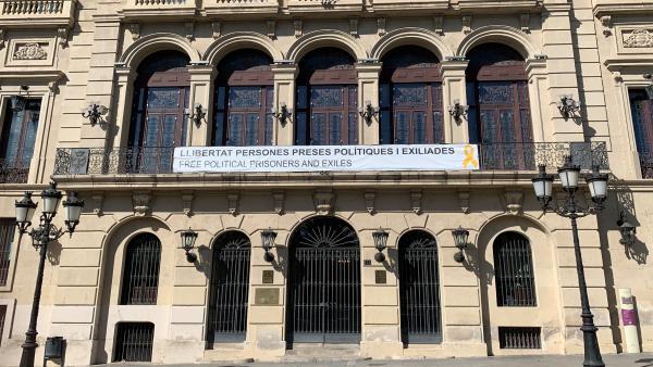 Fachada del Ayuntamiento de Lleida este martes