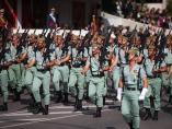 Desfile militar en Madrid por el Día de la Hispanidad.