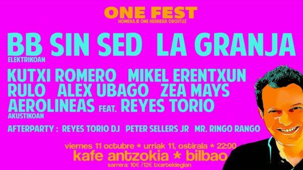 Concierto homenaje One Fest en Bilbao