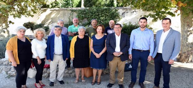 Reunión del presidente de Diputación con alcaldes del Valle de Lecrín