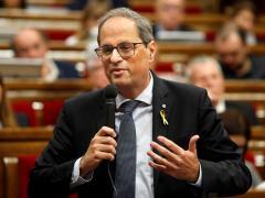 El presidente de la Generalitt, Quim Torra, en el Parlament.