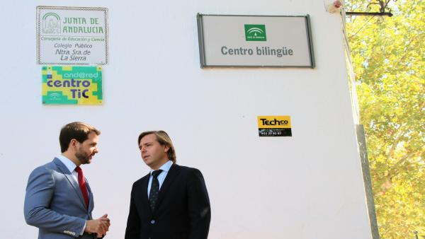 El delegado de la Junta, Antonio Repullo, y el alcalde de Cabra visitan el CEIP Nuestra Señora de la Sierra