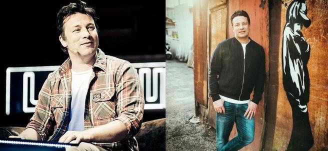 El cocinero Jamie Oliver en mayo y en septiembre