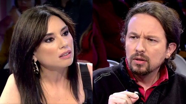 Marta Flich entrevistando a Pablo Iglesias en 'Todo es mentira'
