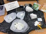 La Guardia Civil desarticula un grupo criminal dedicado al tráfico de drogas en la operación 'Cuerno'.
