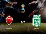 El At. Nacional derrota 1-2 al Patriotas Boyacá y se lleva los tres puntos