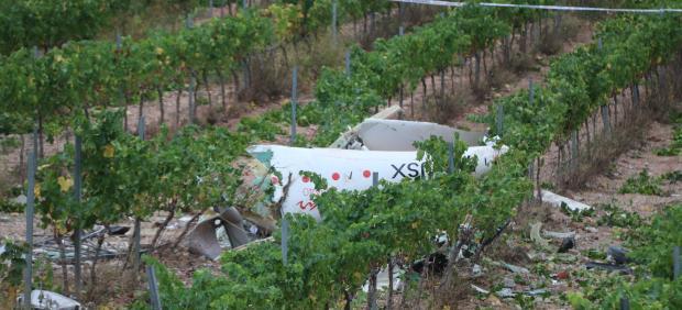 Avioneta estrellada en Bonastre