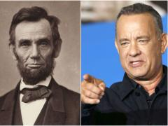 Abraham Lincoln y Tom Hanks
