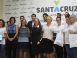 La alcaldesa de Santa Cruz de Tenerife, Patricia Hernández, en la presentación de la campaña de limpieza