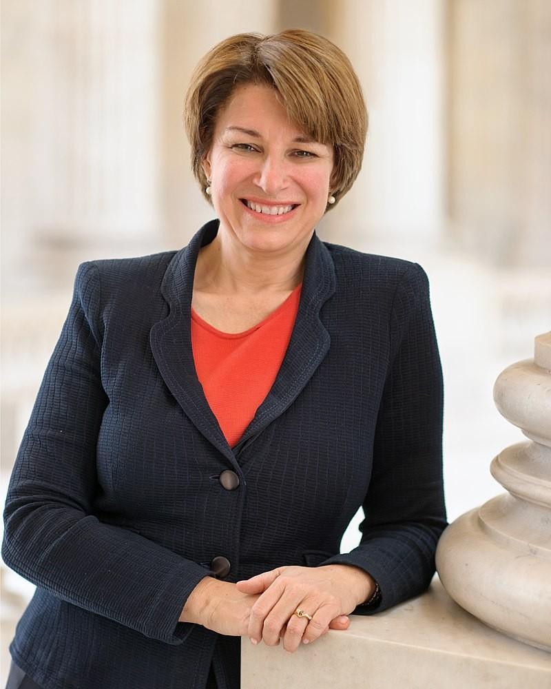 La precandidata demócrata Amy Klobuchar.