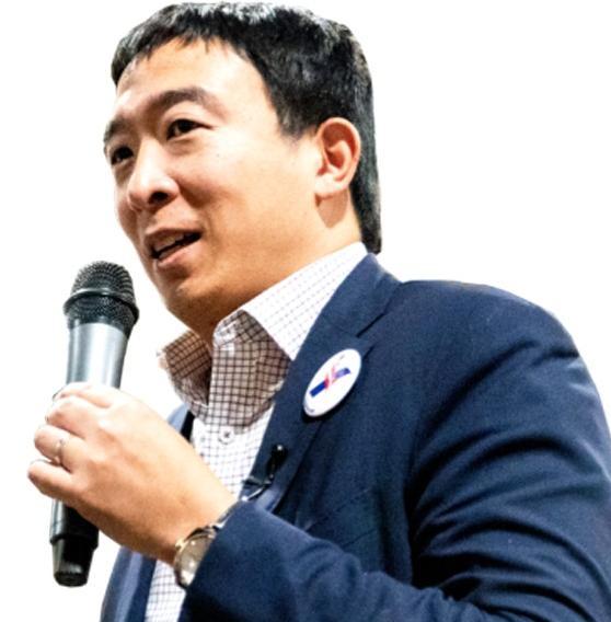 El precandidato demócrata Andrew Yang.