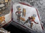 Imagen del nuevo fresco hallado en Pompeya