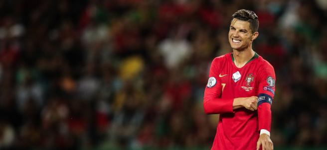 Cristiano Ronaldo, en el Portugal - Luxemburgo