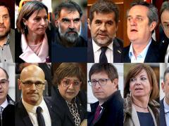 Líderes independentistas del 1-O y presos del <em>procés</em>